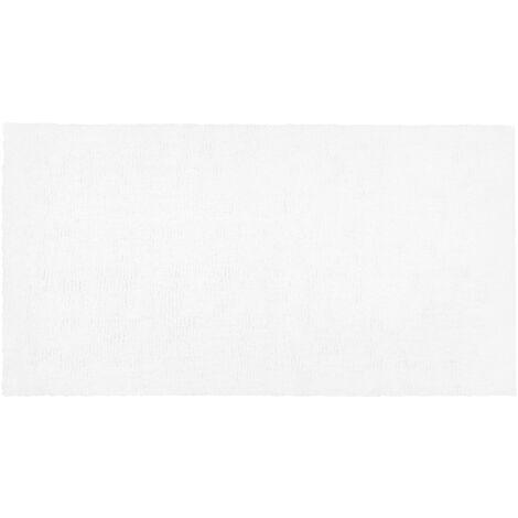 Alfombra shaggy en color blanco 80x150 cm DEMRE
