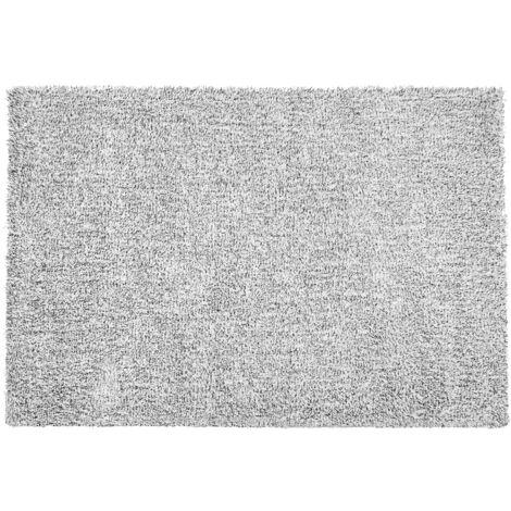 Alfombra shaggy en color blanco y negro 140x200 cm DEMRE
