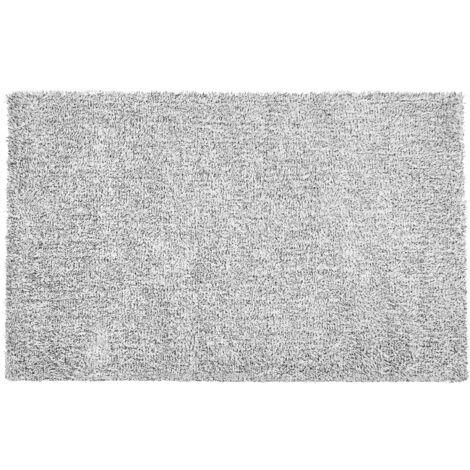 Alfombra shaggy en color blanco y negro 200x300 cm DEMRE
