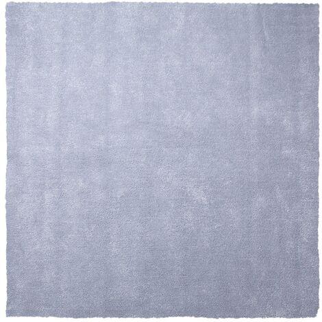 Alfombra shaggy en color gris claro 200x200 cm DEMRE