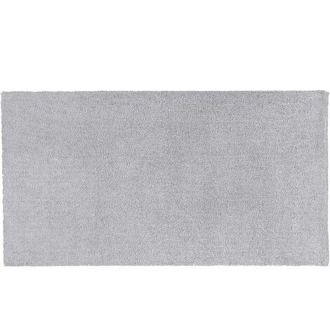 Alfombra shaggy en color gris claro 80x150 cm DEMRE