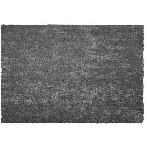 Alfombra shaggy en color gris oscuro 140x200 cm DEMRE