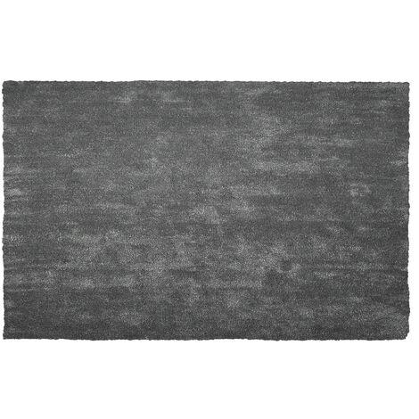 Alfombra shaggy en color gris oscuro 200x300 cm DEMRE