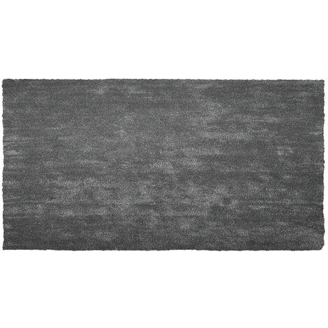 Alfombra shaggy en color gris oscuro 80x150 cm DEMRE