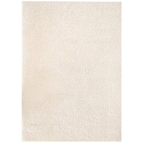 Alfombra shaggy peluda 120x170 cm color crema