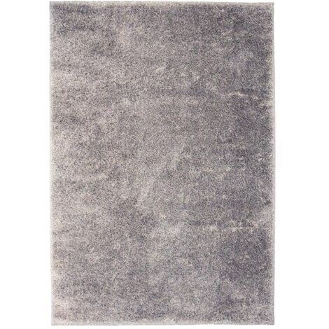Alfombra shaggy peluda 120x170 cm gris