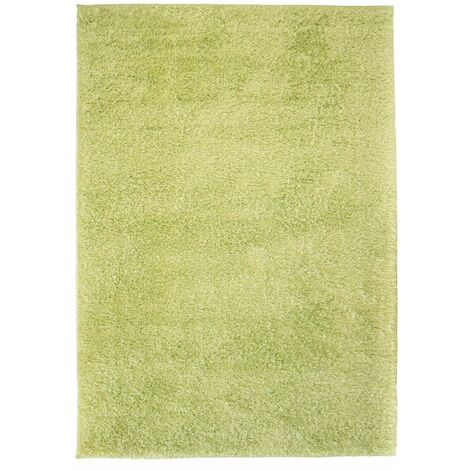 Alfombra shaggy peluda 120x170 cm verde