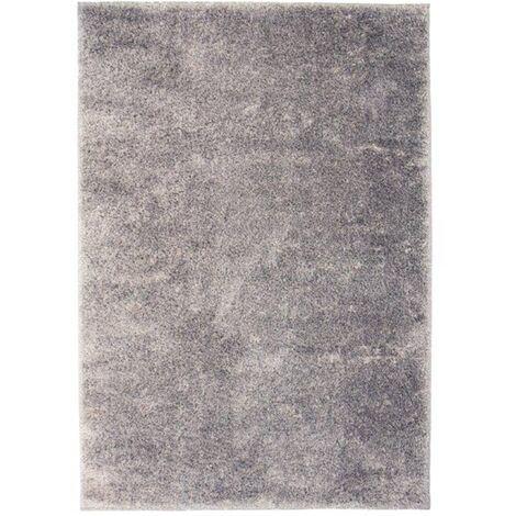 Alfombra shaggy peluda 140x200 cm gris