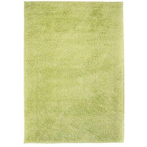 Alfombra shaggy peluda 140x200 cm verde