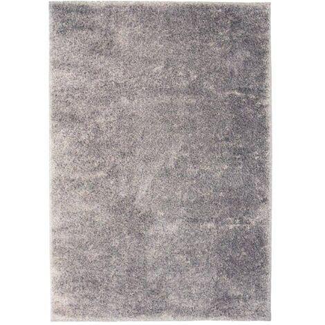 Alfombra shaggy peluda 160x230 cm gris