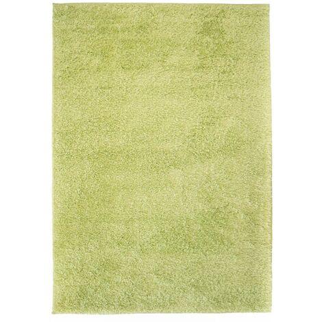 Alfombra shaggy peluda 80x150 cm verde