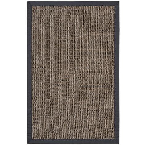 """main image of """"Alfombra vinílica Deblon con Ribete, alfombra de PVC antideslizante y resistente, Marrón Oscuro, 120 x 180cm"""""""