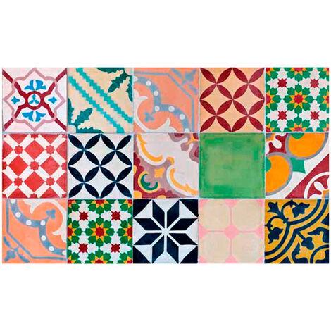 Alfombra vinílica decorativa Mosaico Croma - 110X50CM