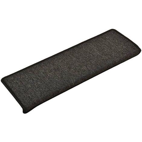 Alfombras de peldaños de escalera 15 uds antracita 65x25 cm