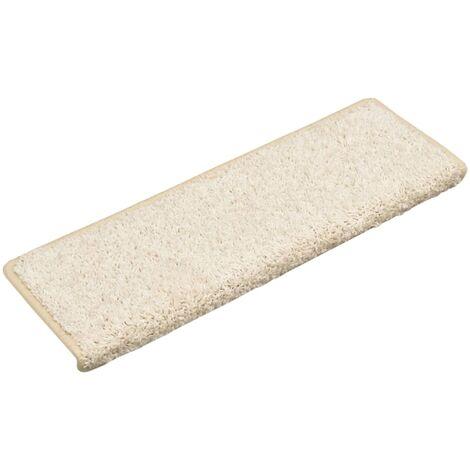 Alfombras de peldaños de escalera 15 uds blanco 65x25 cm