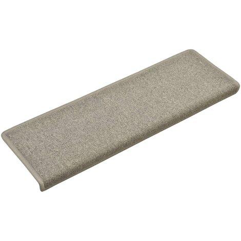 Alfombras de peldaños de escalera 15 uds gris claro 65x25 cm
