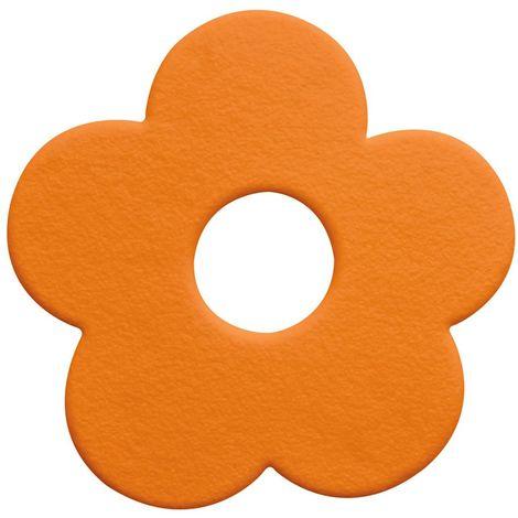 """Alfombrilla de ducha 5 piezas Spirella """"Funky"""" de PVC en color naranja"""
