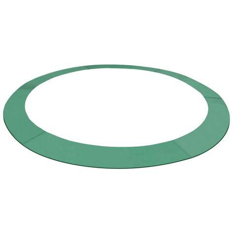 Alfombrilla de seguridad cama elástica PE redonda verde 3,66m