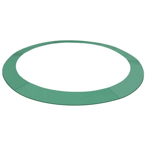 Alfombrilla de seguridad cama elástica PE redonda verde 3,96m