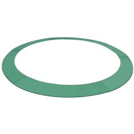 Alfombrilla de seguridad cama elástica PE redonda verde 4,26m