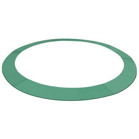 Alfombrilla de seguridad cama elástica redonda 3,05m verde PE