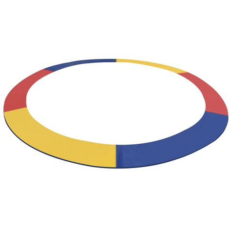 Alfombrilla de seguridad cama elástica redonda multicolor 4,57m