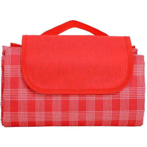 Alfombrilla plegable para acampar para picnic al aire libre Alfombra para picnic Manta para picnic Alfombra impermeable para acampar, Rojo, 145X200