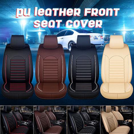 """main image of """"Alfombrilla protectora para asiento de coche Funda protectora de cuero PU L5O3 Juego de almohadillas transpirables (beige, versión de lujo)"""""""