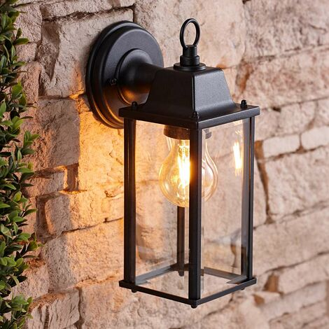 Alfta Square 42W E27 Outdoor Wall Lantern with Fixing Kit - Energy Rating A++