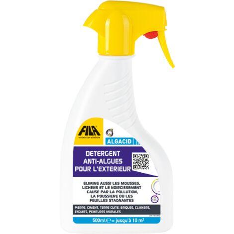 ALGACID 500 ml - détergent anti-algues pour l'extérieur - Spray de 500 ml