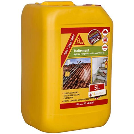 Algaecide and fungicide treatment - SIKA Stop Green - 6L