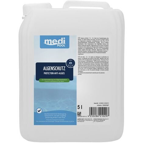 Algenverhütung, Algenschutz 5L mediPOOL