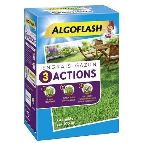 ALGOFLASH Engrais gazon 3 actions - 4 kg
