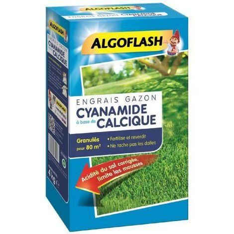 ALGOFLASH Engrais Gazon Cyanamide - 4kg