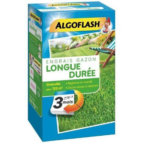 ALGOFLASH Engrais Gazon Longue durée 3 mois - 3.6kg