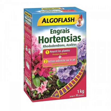 ALGOFLASH Engrais Hortensias, Rhododendrons, Azalées Spécial PH - 1 kg