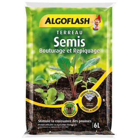 ALGOFLASH - Terreau Semis, bouturage, repiquage 6L