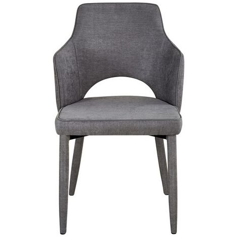 Alhena Chair - Armchair - for Dining Room, Kitchen, Living Room - Beige made of Metal, Fabric, 60 x 52 x 84,5 cm