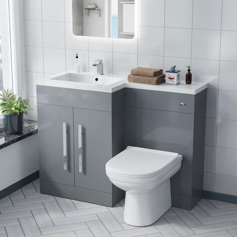Alice LH Light Grey Vanity Sink and Debra BTW Toilet Combo Unit