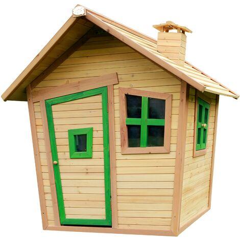 Alice Playhouse: Maisonnette pour enfants, fenêtres intégrées et bois très résistant