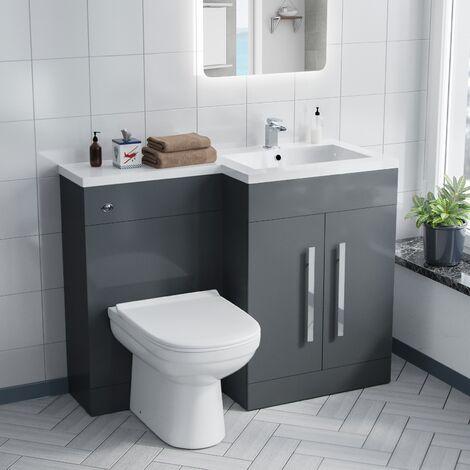 Alice RH Grey Vanity Sink and Debra BTW Toilet Combo Unit