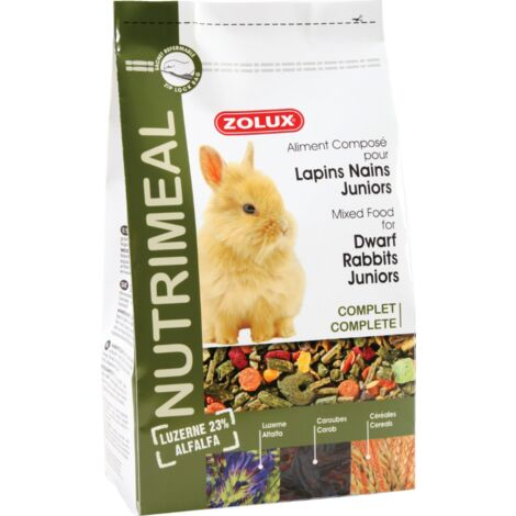 Aliment complet pour lapin nain Junior Nutrimeal 800 gr