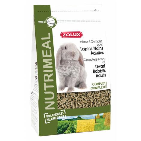Aliment complet pour Lapins nains Adultes. sachet 800 g. pour rongeurs.