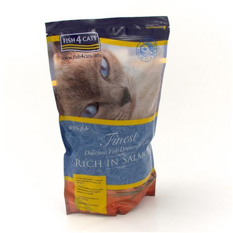 Alimentación a base de salmón para gatos de Fish4Cat