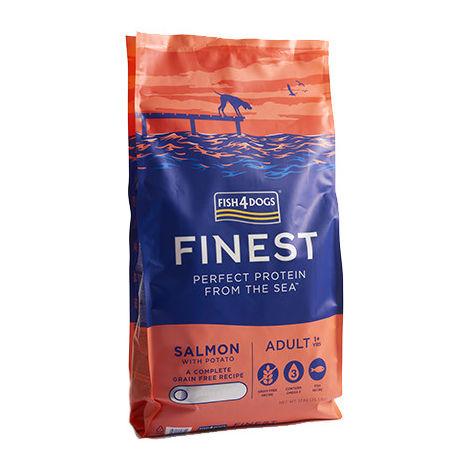 Alimentación a base de salmón para perro de Fish4Dogs Finest