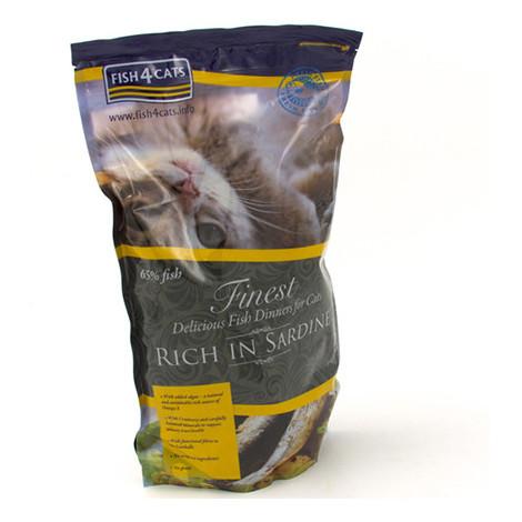 Alimentación a base de sardina para gatos de Fish4Cat