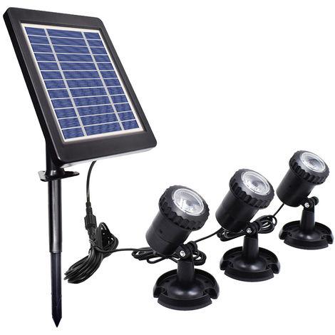 Alimentadas por energia solar Energia L-ED Submarinismo lampara Kit, blanco calido