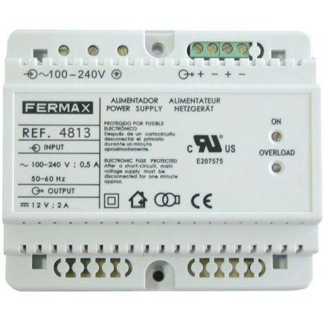 Alimentador 100-240VCA/12VCC-2A FERMAX 4813