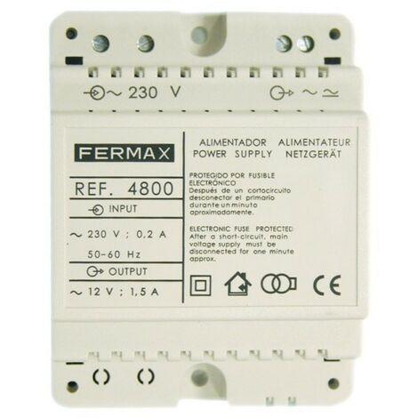 Alimentador 12VCA/1,5A DIN4. FERMAX 4800