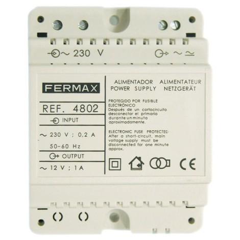 Alimentador 12VCA/1A DIN4 FERMAX 4802
